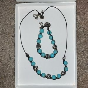 Fossil Matching necklace and bracelet